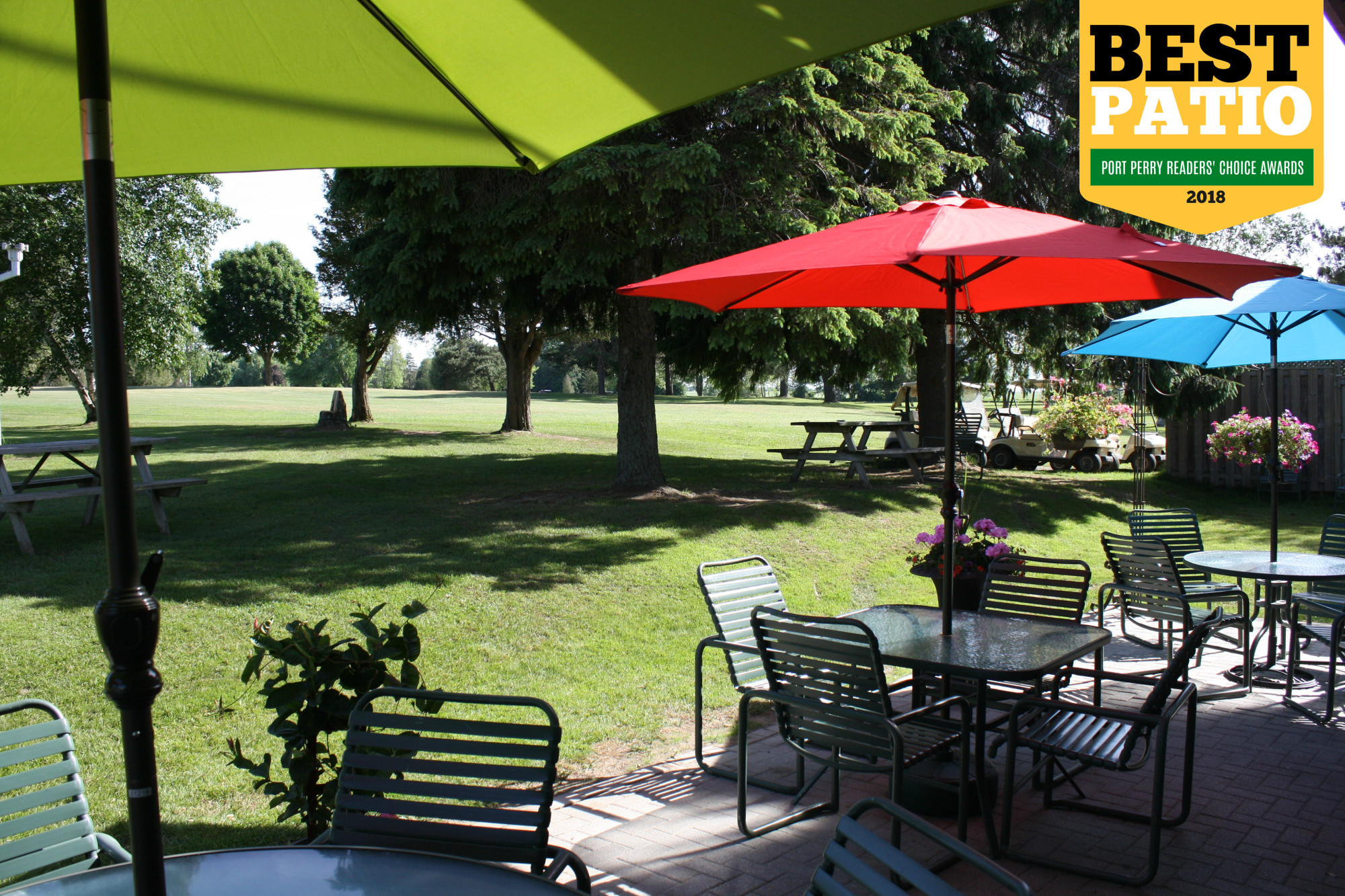 Relax on our Award-Winning Patio!