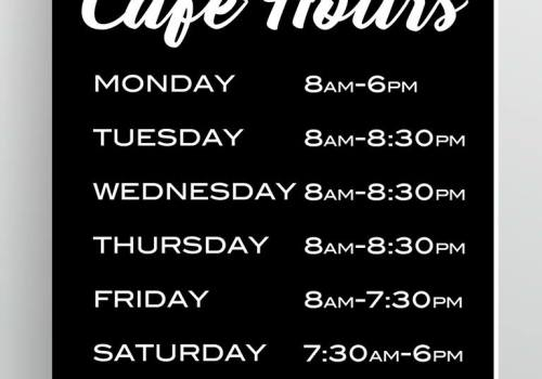 New Cafe Hours 2018
