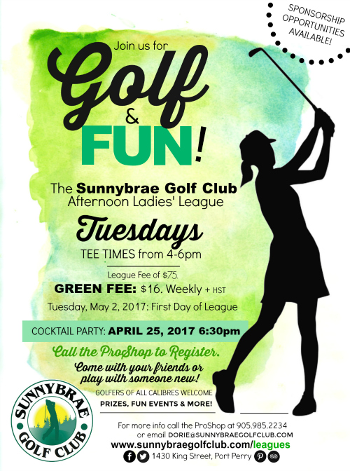 Sunnybrae Golf Club Ladies League 2017