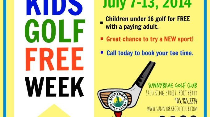 Kids Golf Free Week: July 2014