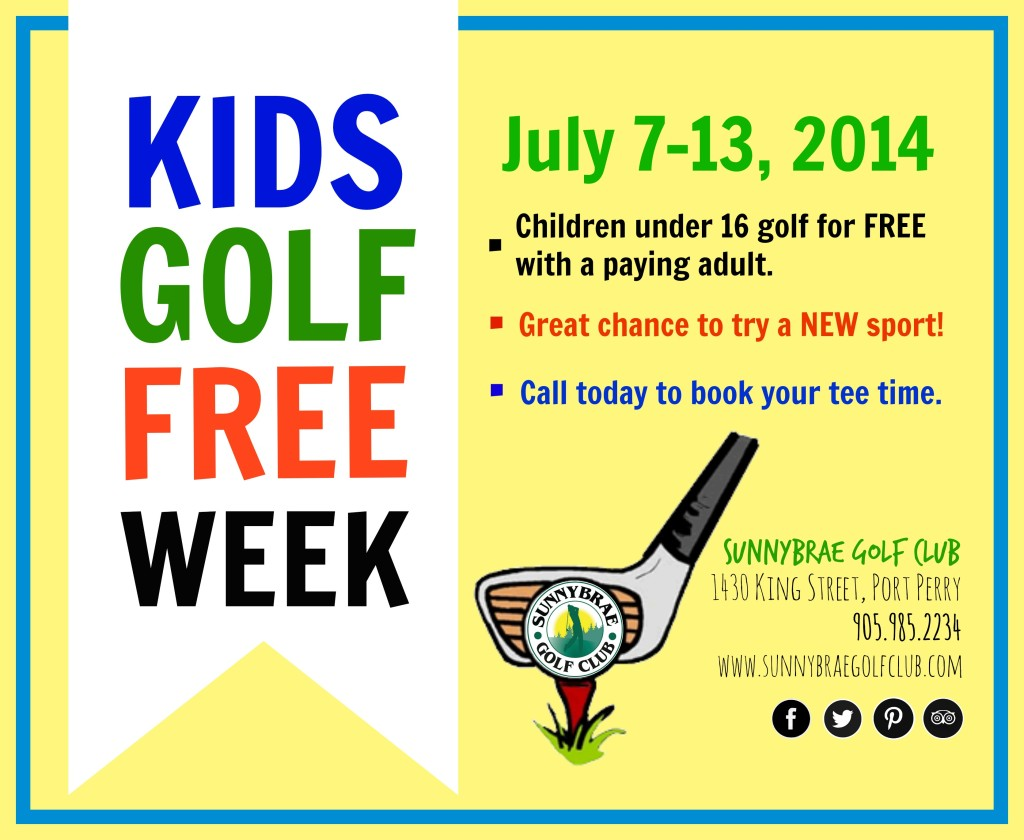 Kids Golf Free Week: July 2014
