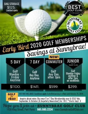 Sunnybrae 2020 Early Bird Rates web 2