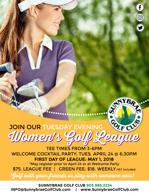 Sunnybrae women's PM golf league 2018 web Port Perry
