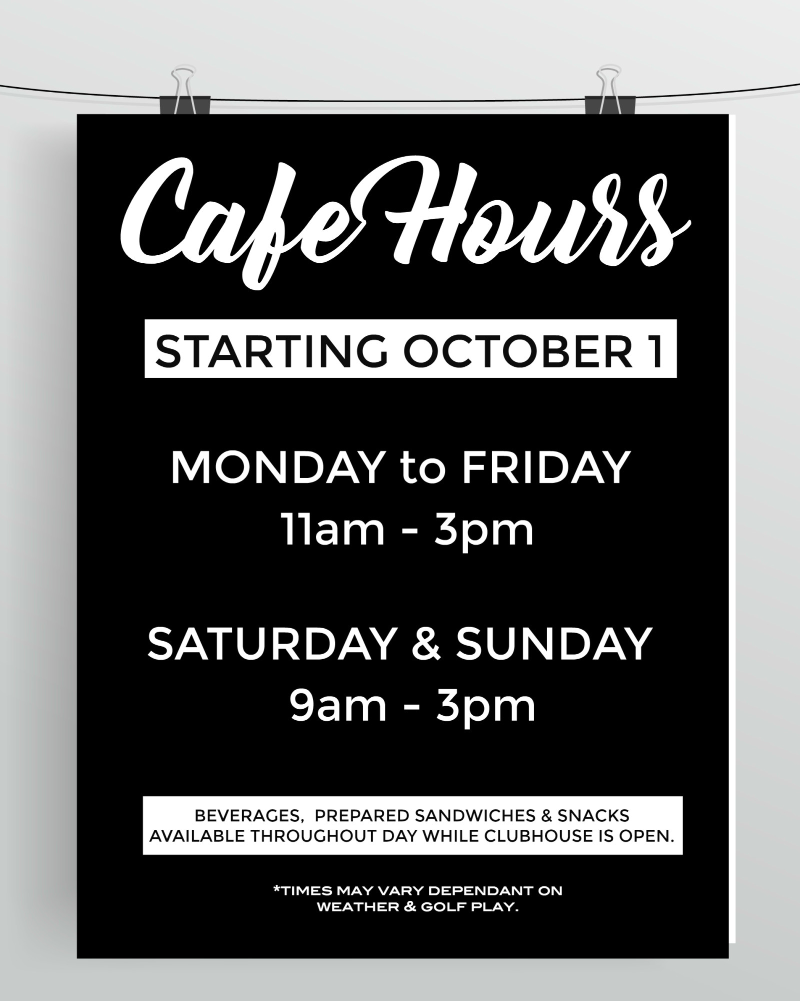 cafe hours AUTUMN 2018