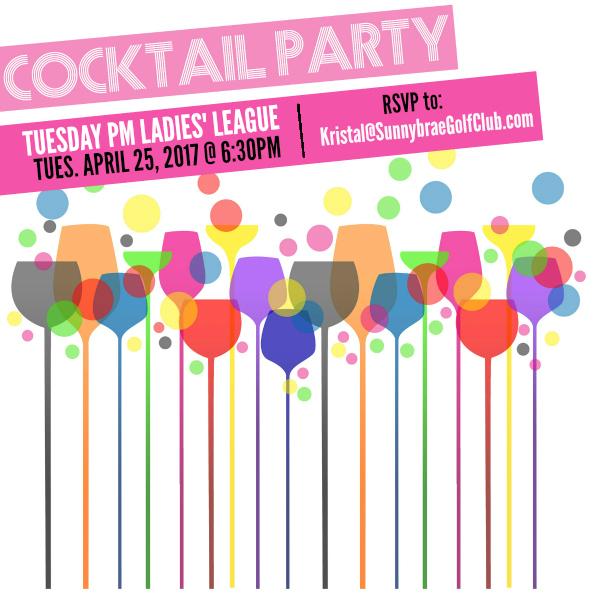 cocktail party 2017 ladies golf league