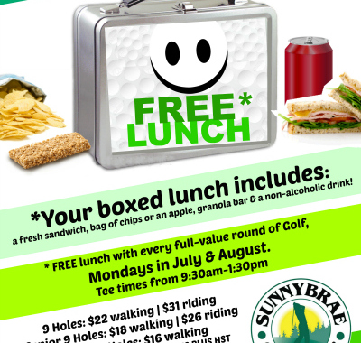 FREE lunch Mondays!