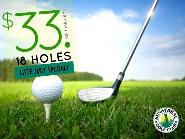 july golf special sunnybrae golf club