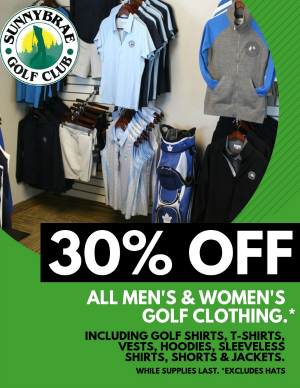 sale flyer 30 off golf clothing sunnybrae