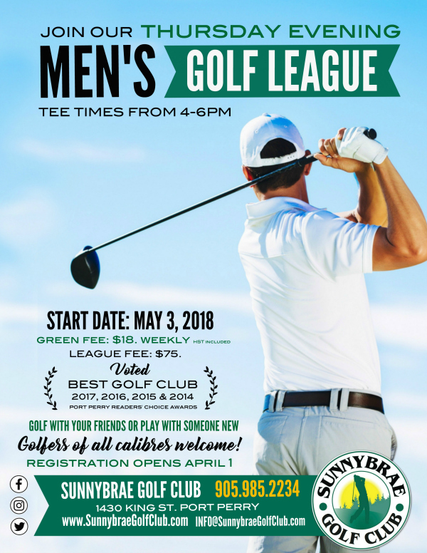 Sunnybrae Golf Club MEN'S PM Evening LEAGUE 2018 web