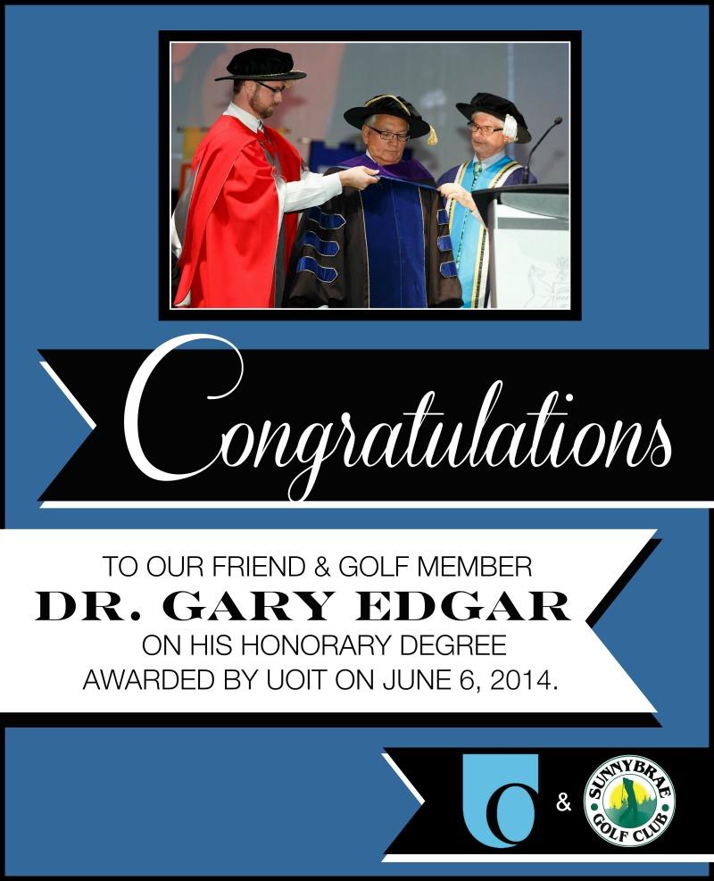 Congratulations Dr. Edgar!