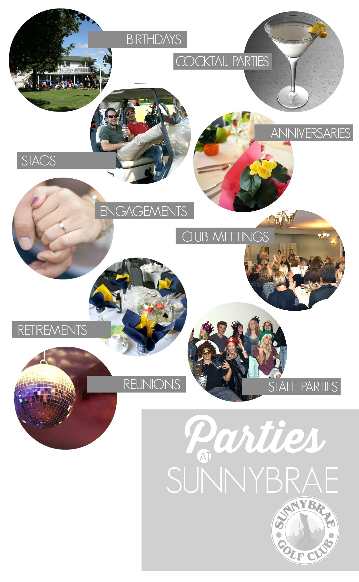 Let Sunnybrae host your next Event or Party!