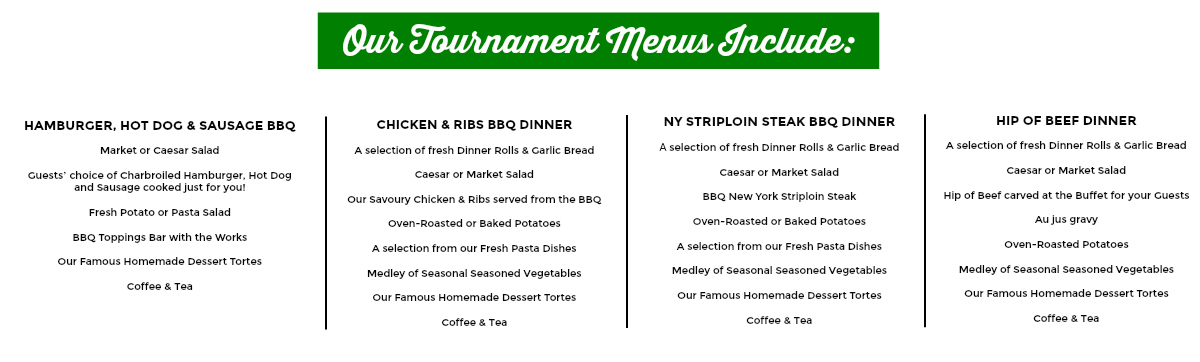 tournament menus sunnybrae