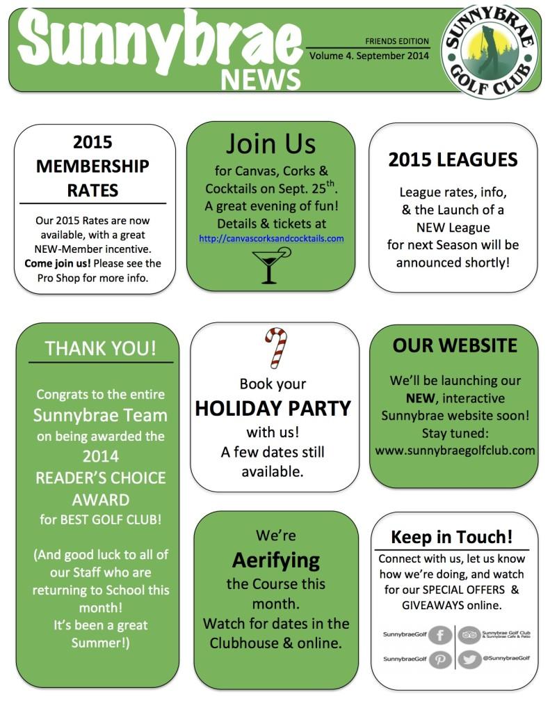 Our September Newsletter!