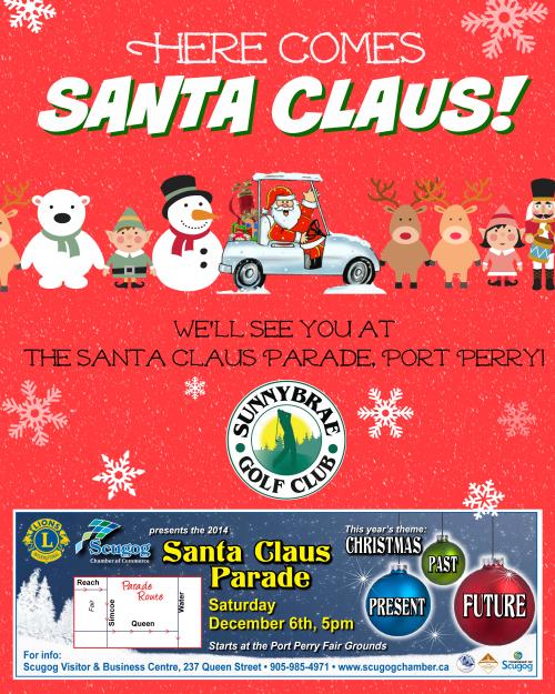 See you at the Santa Claus Parade!