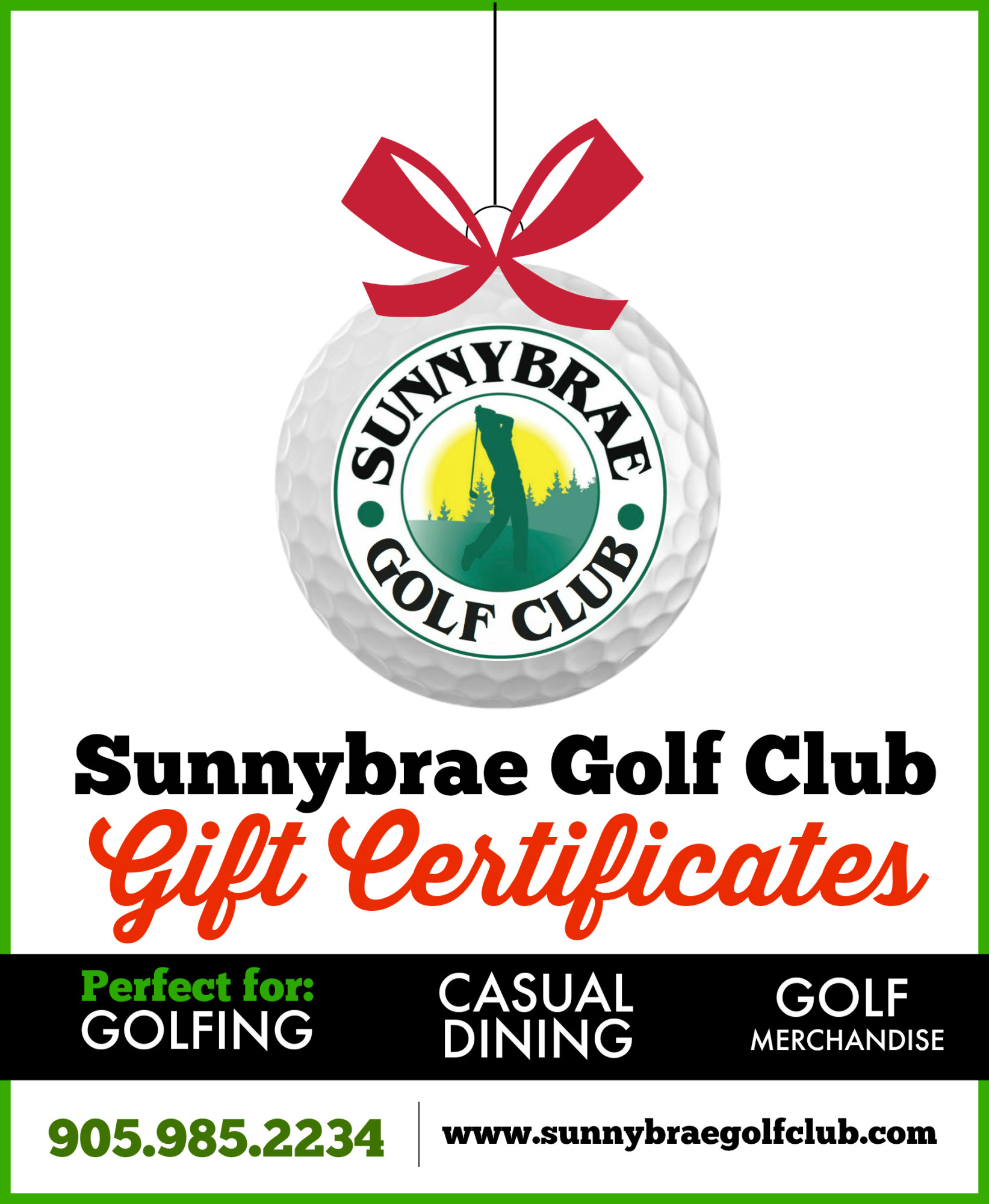The perfect Holiday Gift – Sunnybrae Gift Certificates!