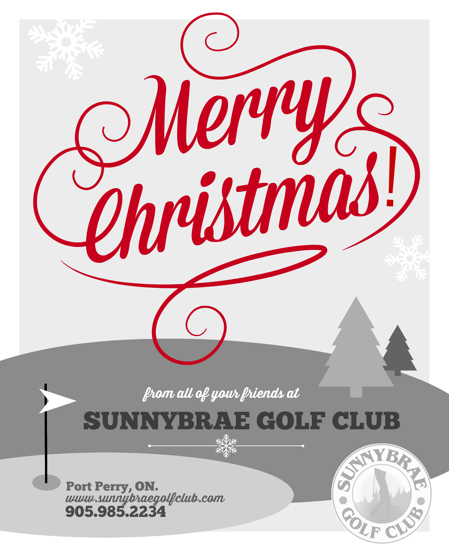 Merry Christmas from Sunnybrae Golf Club!