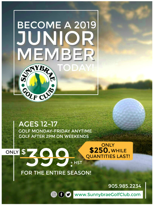 Become a 2019 Junior Golf Member at Sunnybrae!