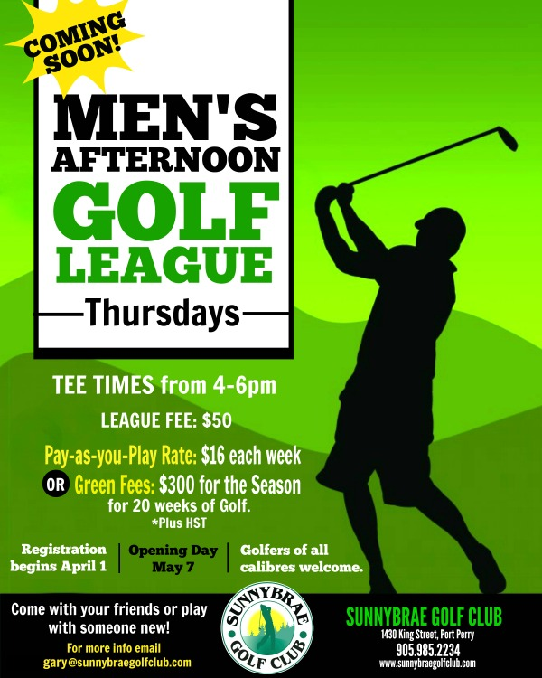 Join our NEW Men's Golf League!
