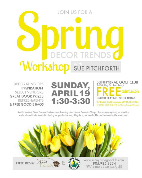 Spring Decorating Trends Workshop at Sunnybrae Golf Club