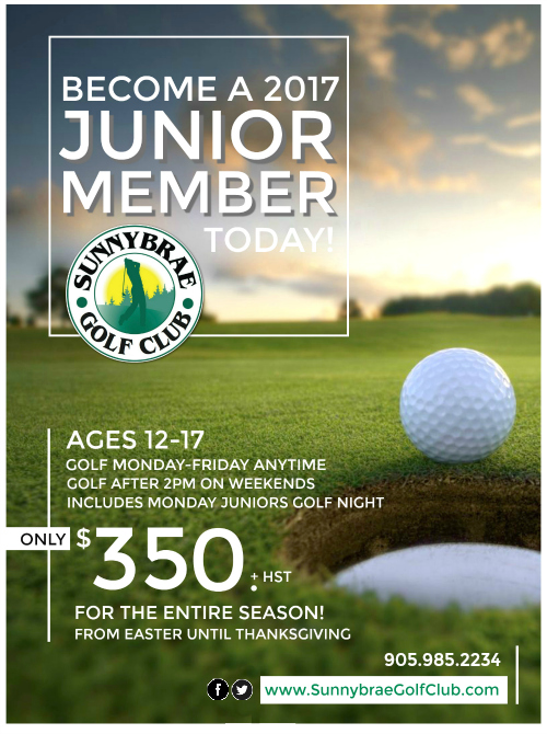 Junior Golf Membership 2017 Web