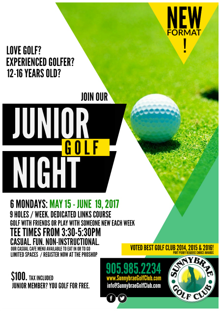 junior golf night sunnybrae port perry 2017 web league
