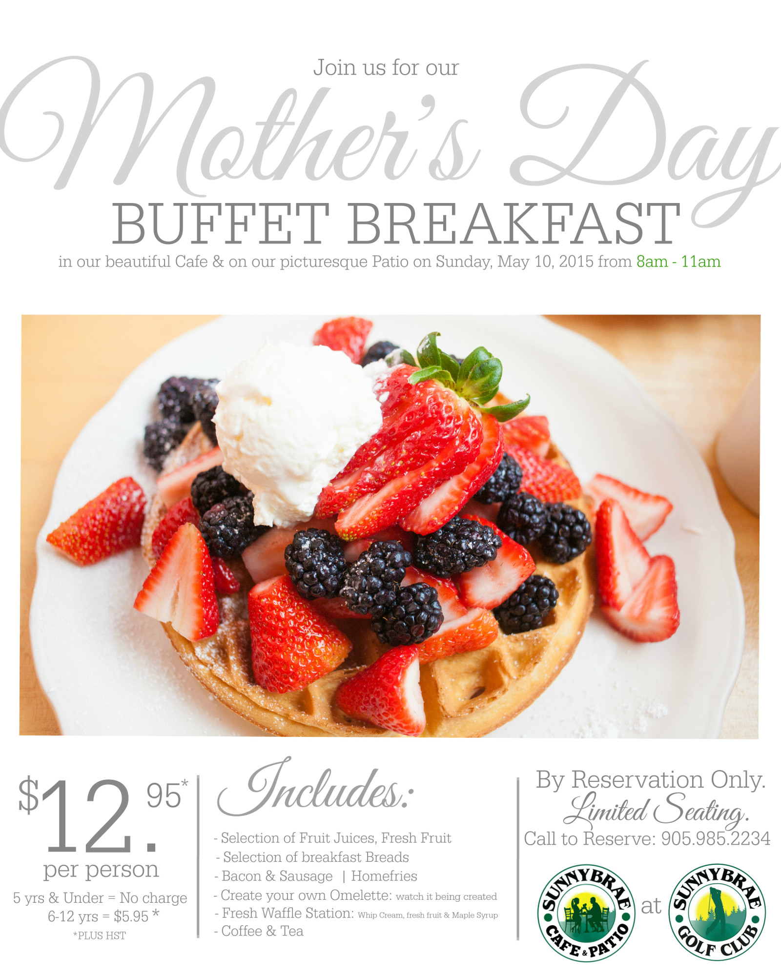 Mother's Day Buffet Breakfast at Sunnybrae