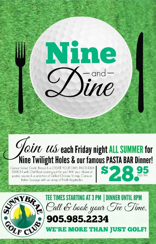 Nine And Dine Dinner & Golf At Sunnybrae