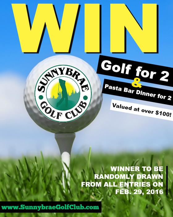 Win Golf & Dinner for 2 at Sunnybrae Golf Club 2016