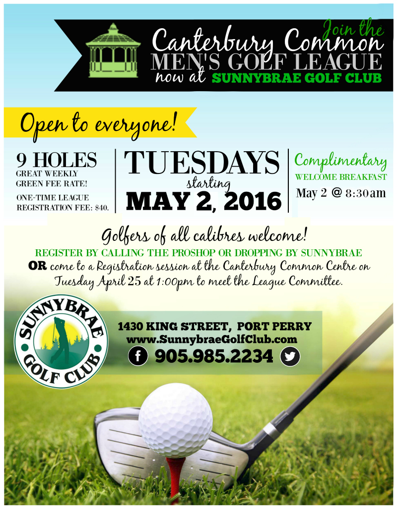 Canterbury Mens Golf League Port Perry Sunnybrae Web 2017