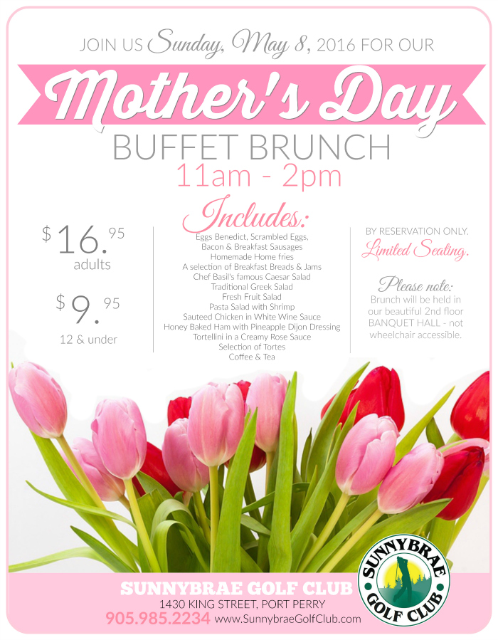 Mother's Day Brunch, May 8, 2016