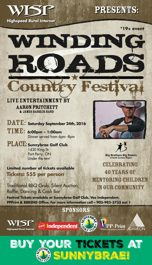 Winding Roads Concert tickets on sale now!