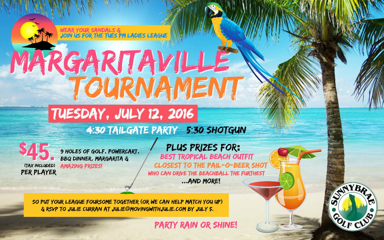 sunnybrae golf club ladies league Margaritaville tournament