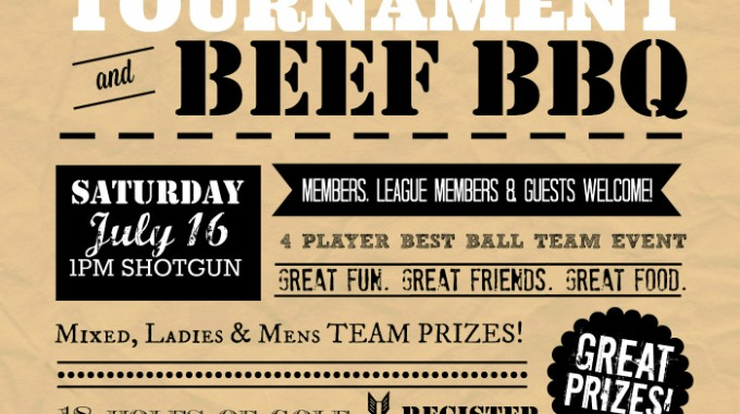 Join us for our 2016 Member Guest Golf Tournament