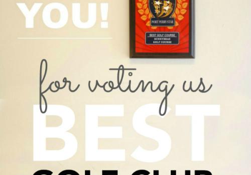 Thank you: Best Golf Club 2016
