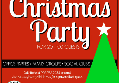 Book your 2016 Christmas & Holiday Party today!