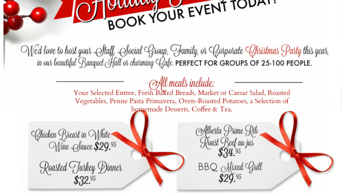 Holiday Parties at Sunnybrae Golf Club in Port Perry