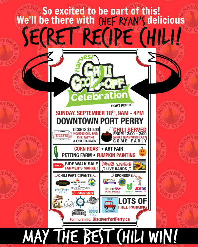 See you at the Port Perry Chili Cook-off!