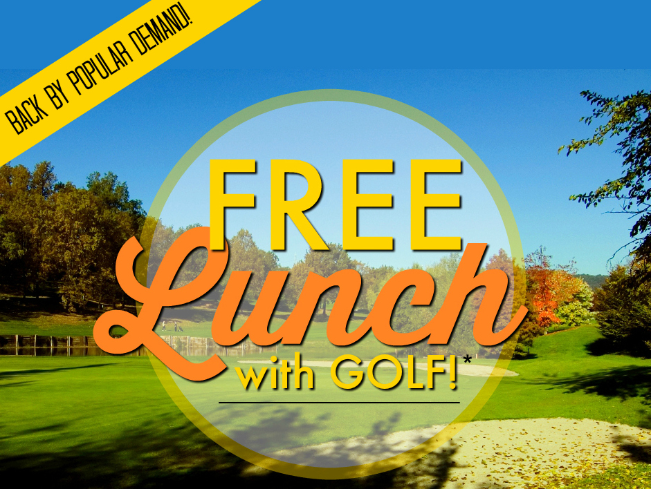FREE lunch with Golf on Nov. 1st & Nov. 2nd, 2016