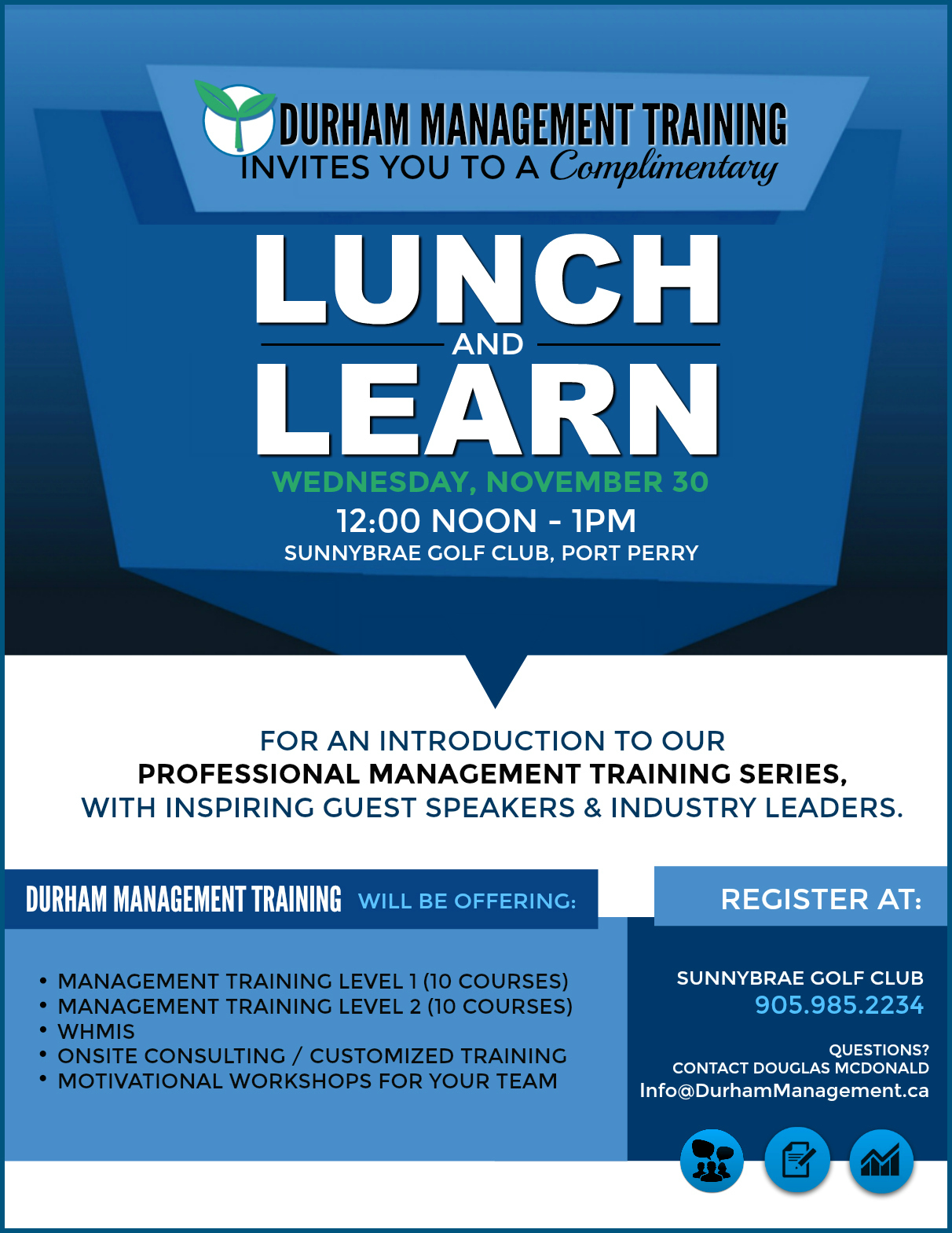 Join us for Durham Management Training's *Lunch & Learn.*