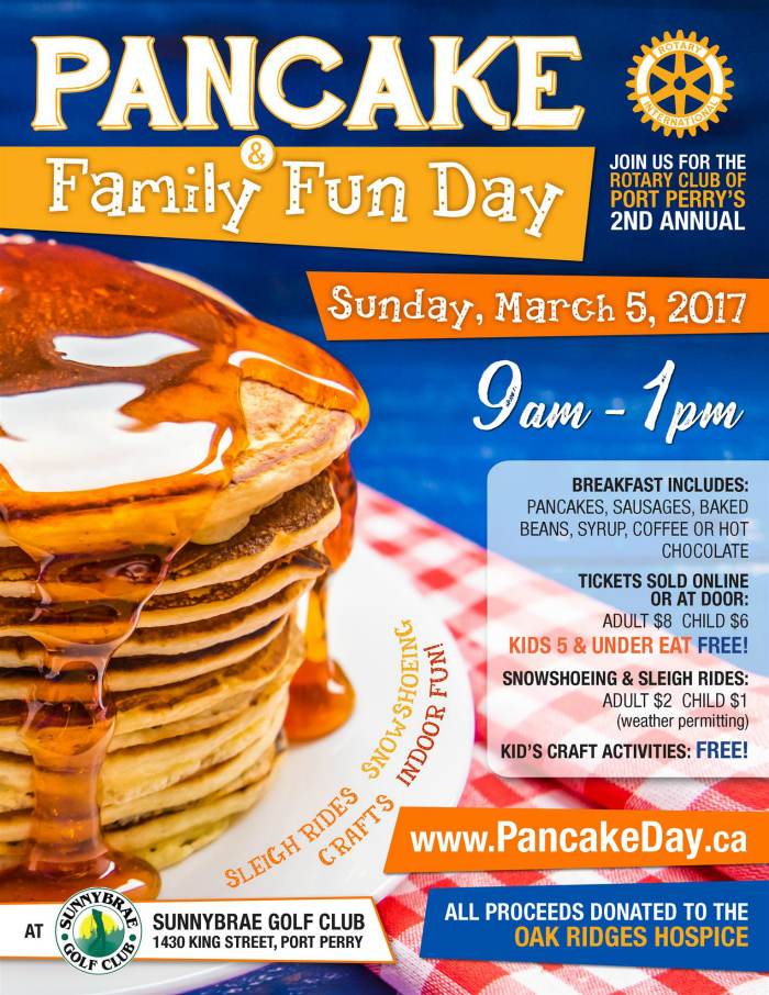 Pancake Day at Sunnybrae Golf Club Port Perry