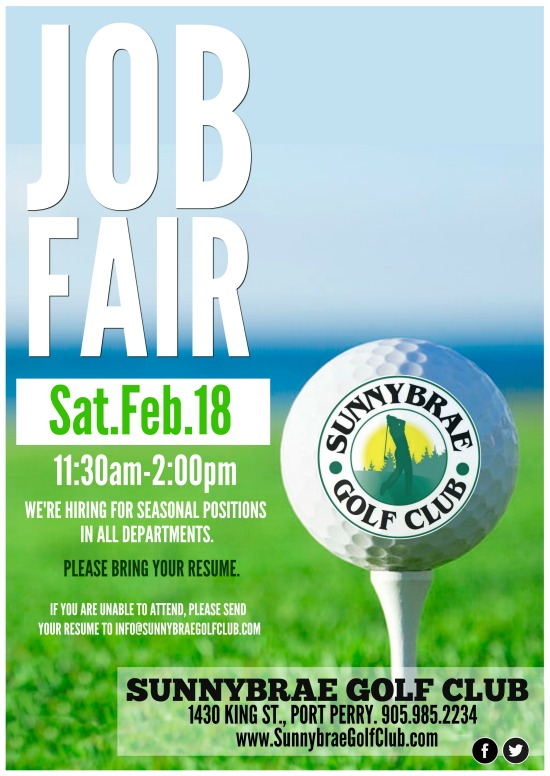 Sunnybrae Golf Club 2017 Job Fair Port Perry