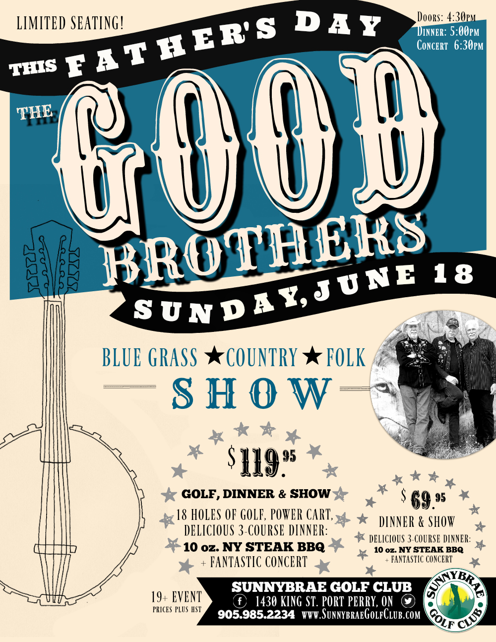 The Good Brothers in Concert at Sunnybrae this Father's Day!