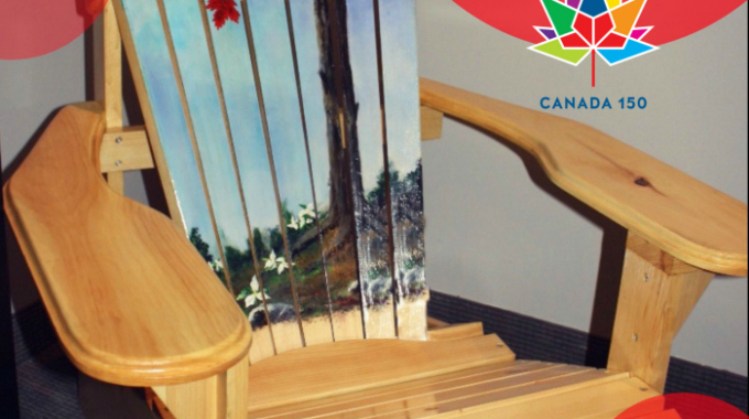 ENTER to win this one-of-a-kind Canadian Muskoka Handpainted Chair!