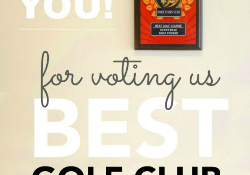 Thank you for voting us BEST GOLF COURSE for a 4th straight year!