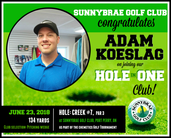 Congrats to our latest Hole in One!