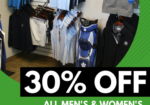 30% off all in-stock Golf Clothing!
