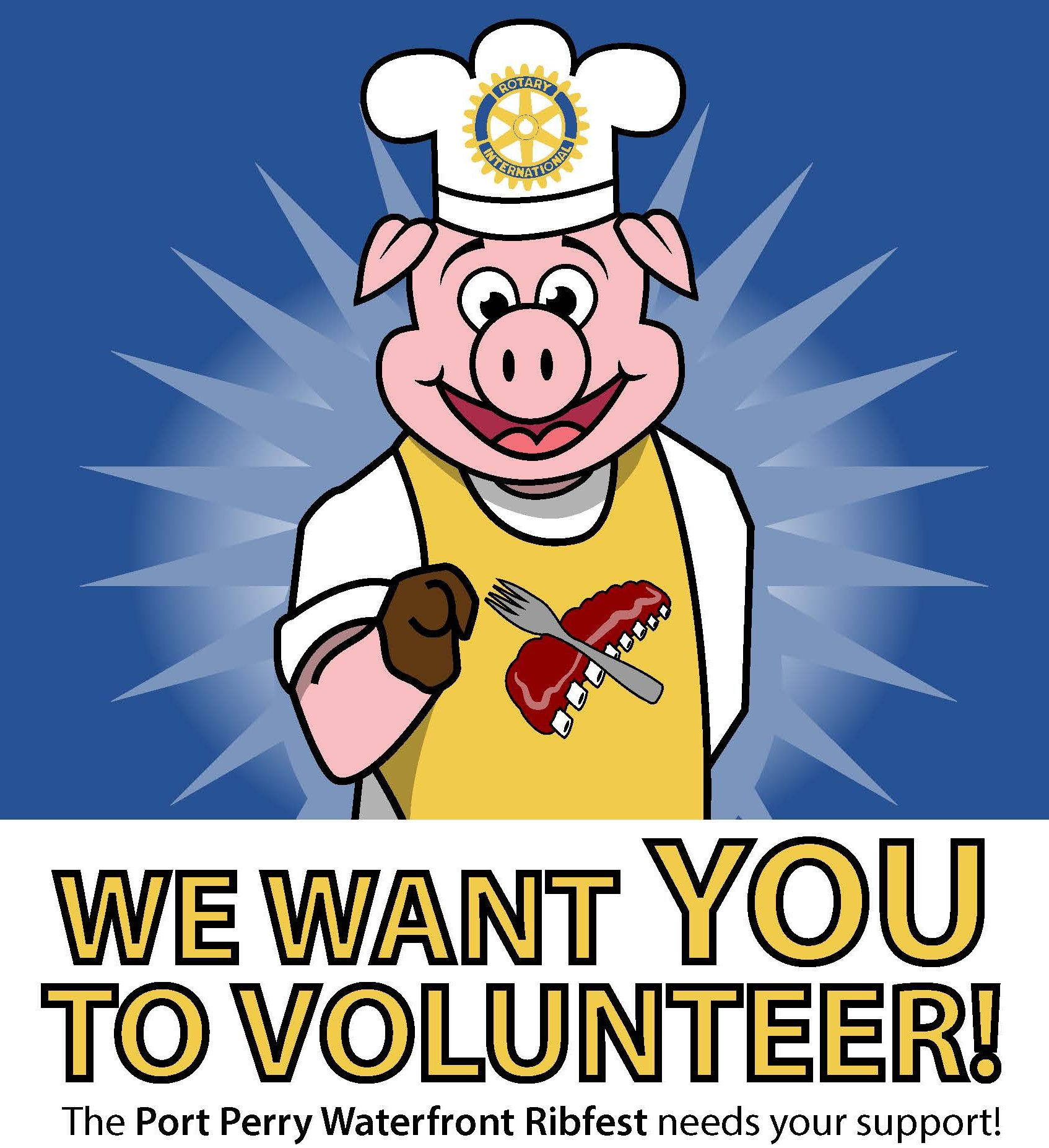 Volunteers needed for the Port Perry Ribfest!