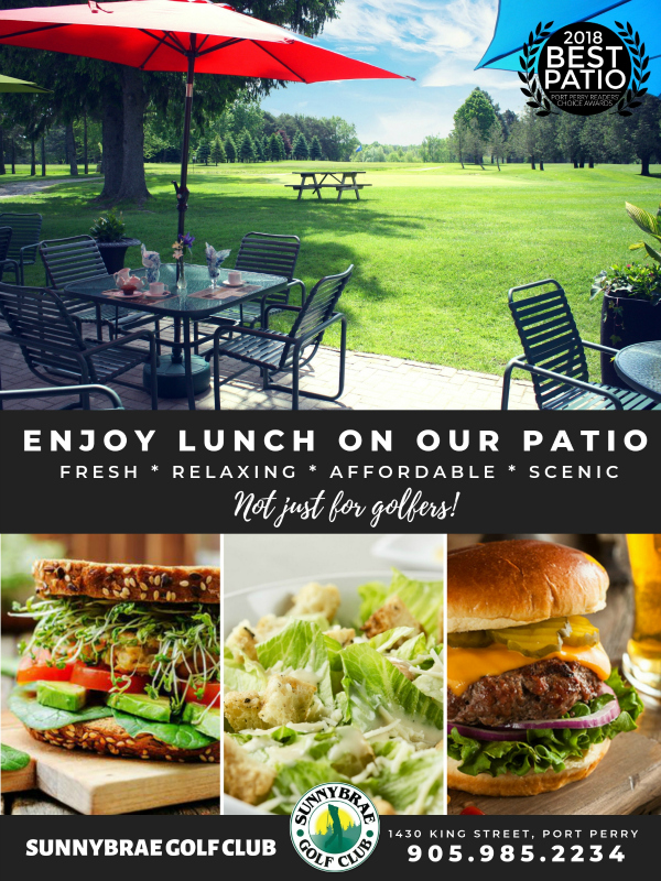 Come enjoy lunch on our Sunnybrae Patio!