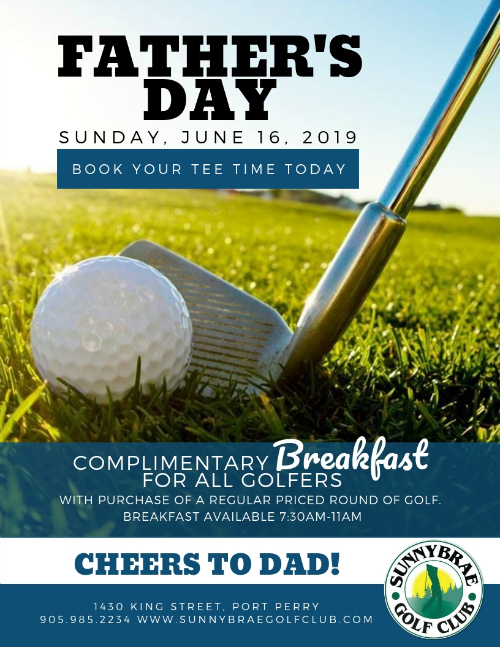 Father's Day 2019 golf special!