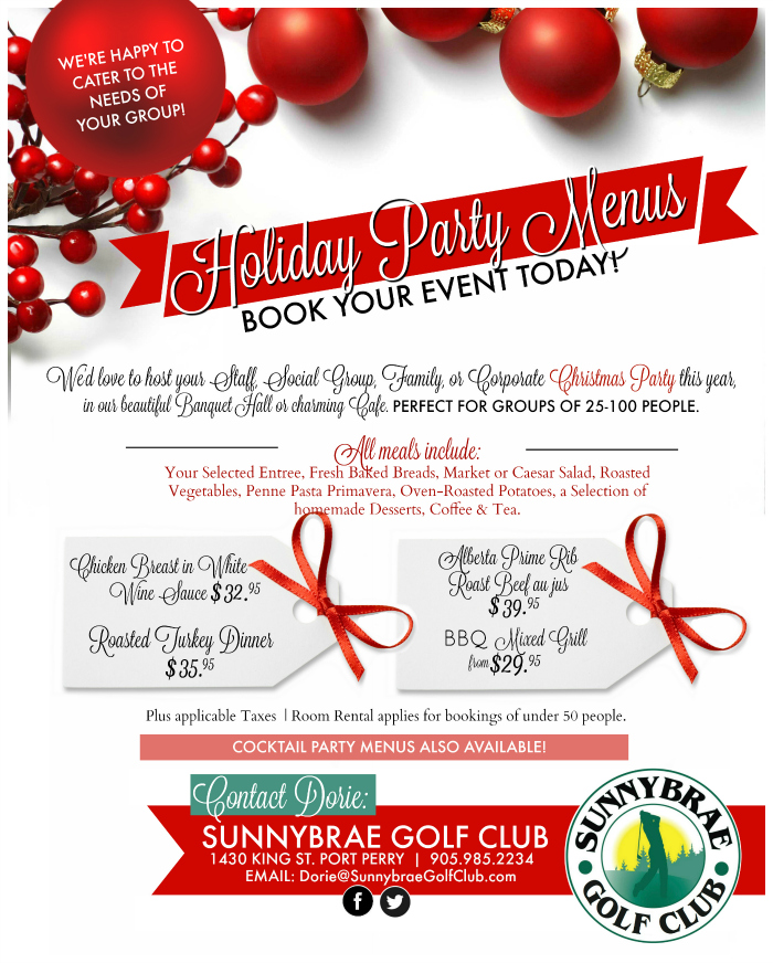 2019 Holiday Parties at Sunnybrae Golf Club
